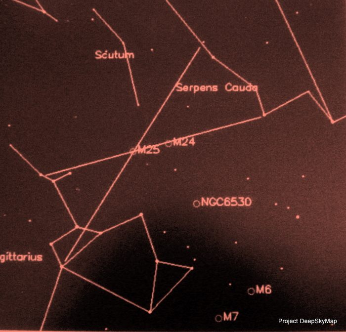 Photograph of Star Map on Kindle